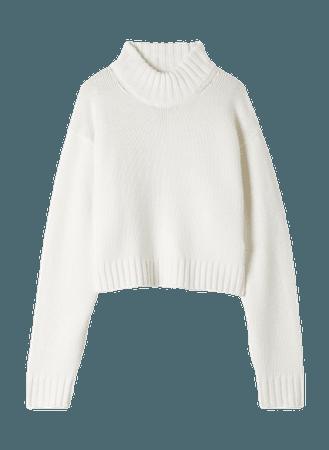 Wilfred Free Heinen Sweater Cropped mock-neck sweater
