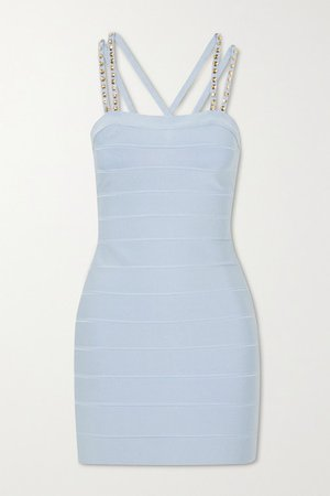 Hervé Léger | Swarovski crystal-embellished bandage mini dress | NET-A-PORTER.COM