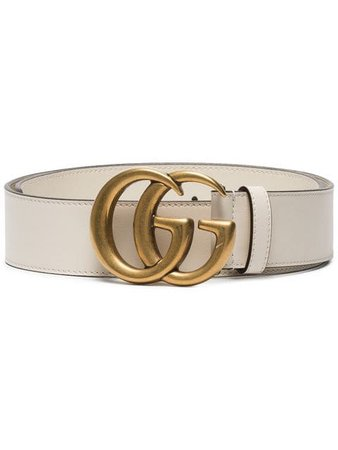 Gucci white Leather belt with Double G buckle $450 - Buy Online SS19 - Quick Shipping, Price