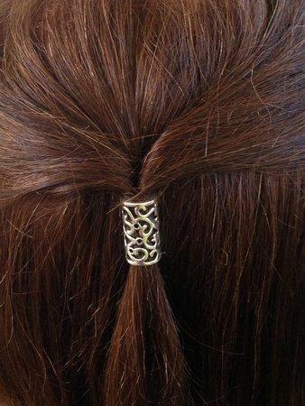 Hair Bead No.19 Elvish hair bead leaves vine Elf jewelry | Etsy