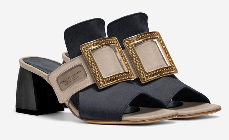luxe sandal mule