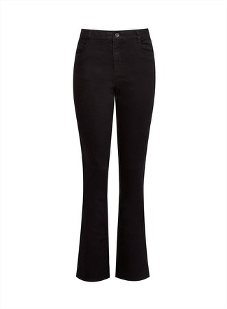 **DP Tall Black Ellis Bootcut Denim Jeans