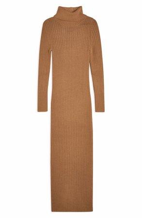 Topshop Turtleneck Long Sleeve Sweater Dress | Nordstrom