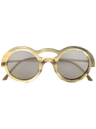 Rigards Genuine Horn Sunglasses RG0095 Neutral | Farfetch