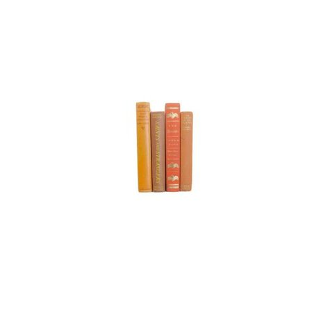 Orange books spines