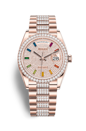 Rolex Day-Date 36 Watch: 18 ct Everose gold - M128345RBR-0043