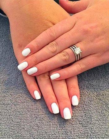 white natural nails - Pesquisa Google