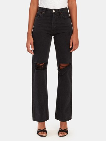RE/DONE High Rise Loose Straight Leg Jeans | Verishop