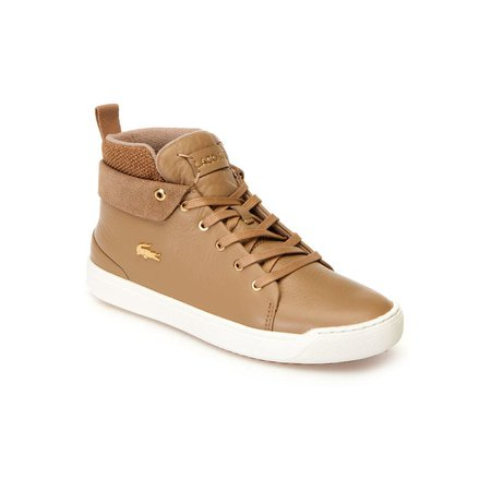 Women's Explorateur Classic Mid Leather And Textile Trainers   LACOSTE