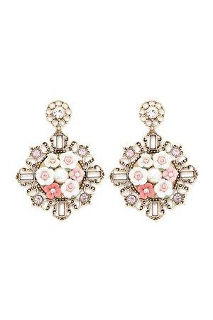 Floral Scroll Drop Earrings | Forever 21