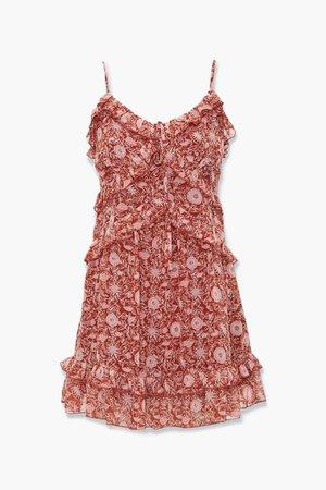 Ruffled Floral Print Mini Dress | Forever 21