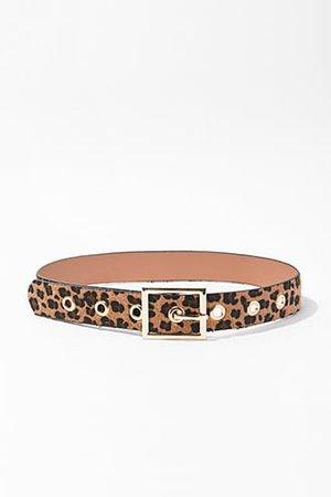 Brushed Leopard Print Waist Belt | Forever 21
