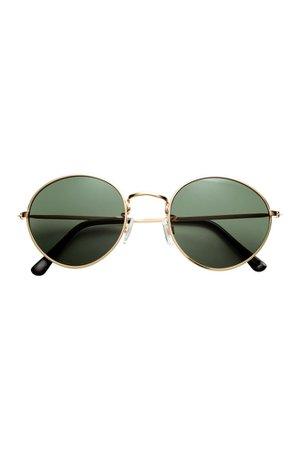 Sunglasses - Gold-colored/black - Ladies | H&M US