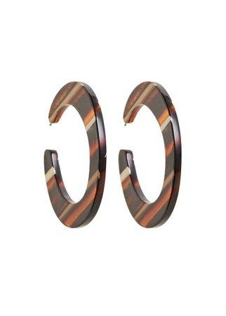 Violeta BY MANGO Resin hoop earrings