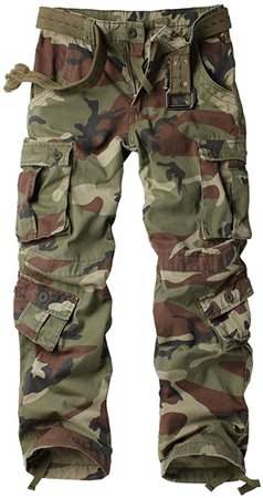 AKARMY Must Way Men's Cotton Casual Military Army Camo Combat Work Cargo Pants with 8 Pockets Battlefield Camo 29 at Amazon Men's Clothing store