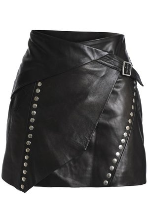 Studded leather wrap mini skirt | IRO |