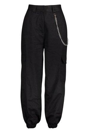 black cargo pants loose