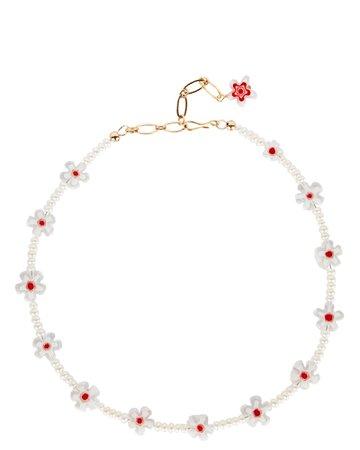 Brinker & Eliza Yolo Flower Beaded Necklace | INTERMIX®