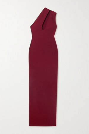Krista Cutout Stretch-crepe Maxi Dress - Red