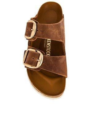 BIRKENSTOCK Arizona Big Buckle Sandal in Cognac   REVOLVE