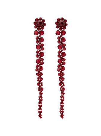 Simone Rocha Crystal-Embellished Drop Earrings Ss20   Farfetch.com