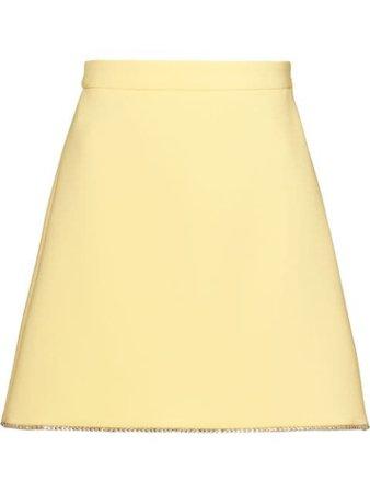 Miu Miu Faille Cady Skirt MG13451LW6 Yellow   Farfetch