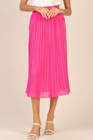 Pleated Midi Swing Skirt – SKIES ARE BLUE