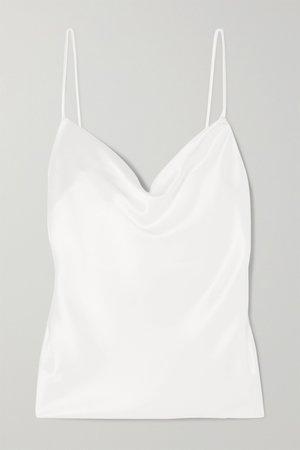 Ivory Whiteley satin camisole   Galvan   NET-A-PORTER