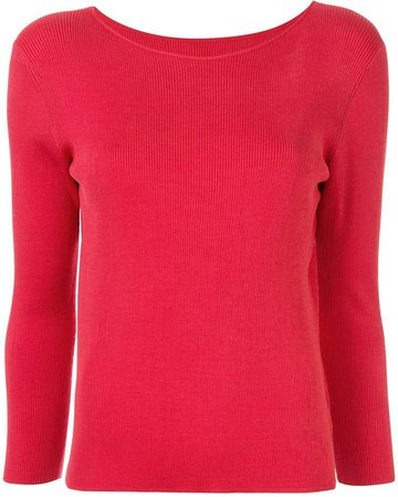 Knitted Boat Neck Top