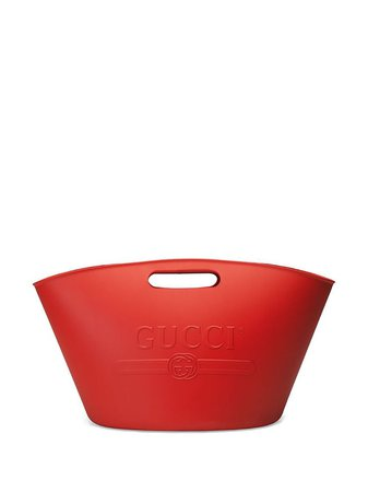 Red Gucci Logo Top Handle Tote | Farfetch.com