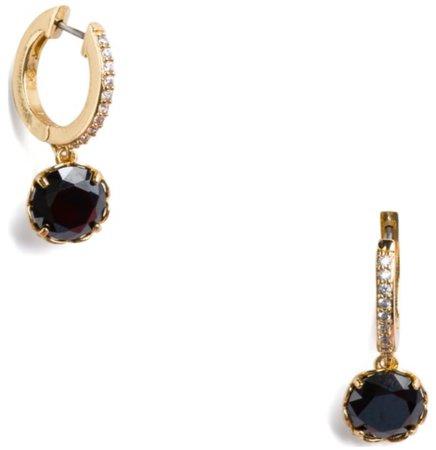 black and diamond gold hoop