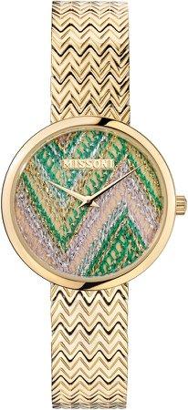 M1 Joyful Knit Dial Bracelet Watch & Leather Strap Set, 34mm