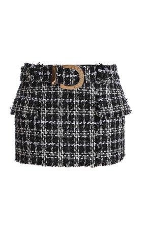 Buckled Tweed Mini Skirt by Balmain | Moda Operandi