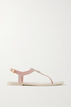 Garavani Go Logo Rubber Sandals - Pastel pink