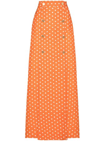 Adriana Degreas Polka Dot Maxi Skirt - Farfetch