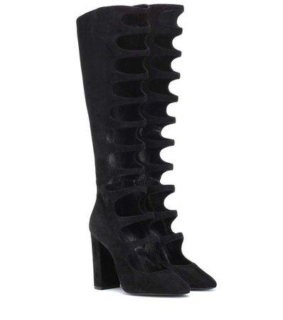 Saint Laurent - Joplin 105 suede boots   mytheresa.com
