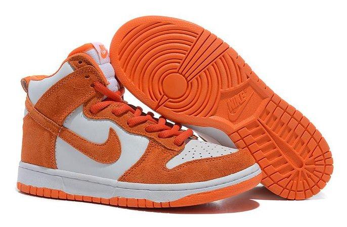 """Femme Nike Dunk High Pro SB """"Syracuse"""" Chaussures Blanche/College Orange 305050-181 [4796] : Chaussure nike air max,air jordan,free run,nike shoes pas cher"""