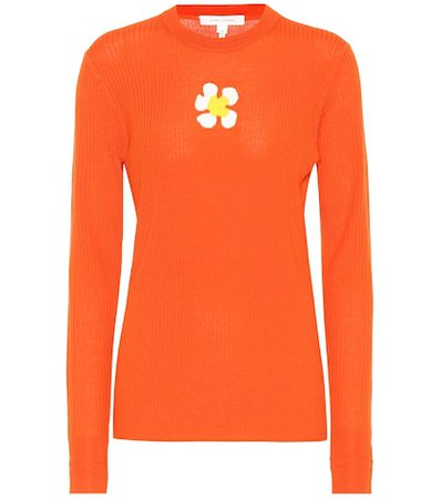 Wool daisy sweater