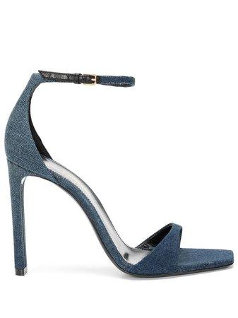 Saint Laurent Bea 105mm denim sandals