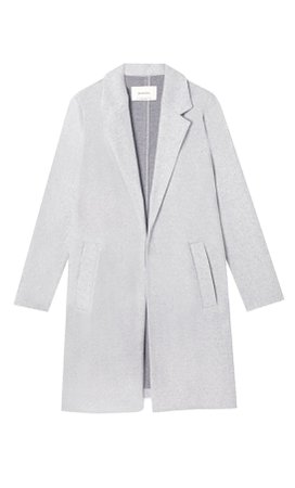 grey Napped knit coat - Women's Just in | Stradivarius United States