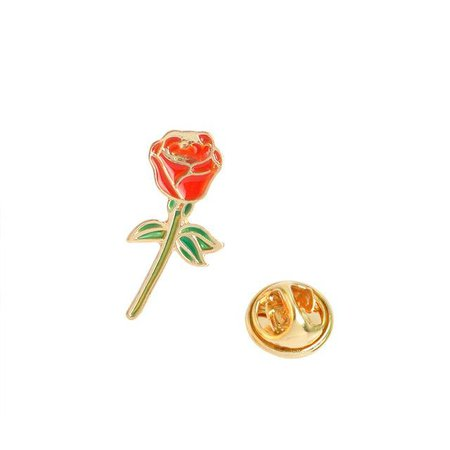 Red Rose Pin by Patchy Pins