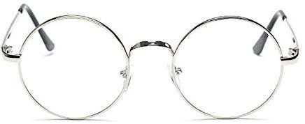 Fashion New Retro Round Mens Womens Nerd Glasses Clear Lens Eyewear Unisex Retro Eyeglasses Spectacles Unisex Oculos (silver): Amazon.in: Clothing & Accessories