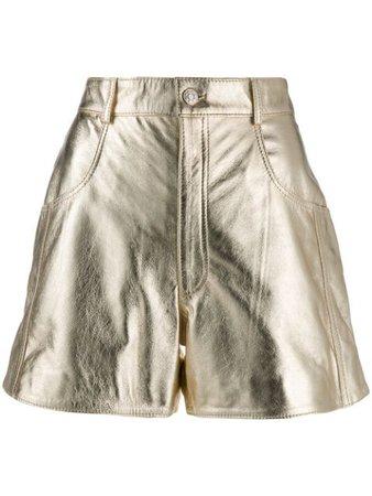 Manokhi Jett Shorts A00000165 Gold | Farfetch