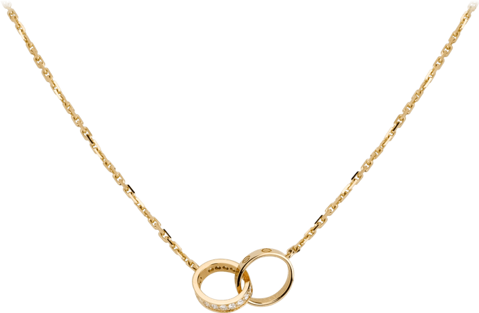 CRB7013800 - LOVE necklace, diamonds - Yellow gold, diamonds - Cartier