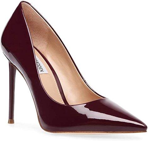 Amazon.com | Steve Madden Women's Vala Burgundy Patent 410 8 US | Pumps
