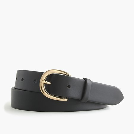 J.Crew: Classic Leather Belt For Women