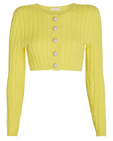 Ronny Kobo Yuka Cable Knit Cardigan | INTERMIX®