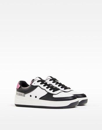 Contrast embossed sneakers - SHOES - Woman | Bershka