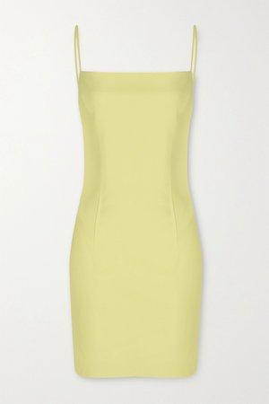 Pastel yellow Leather mini dress | Zeynep Arcay | NET-A-PORTER