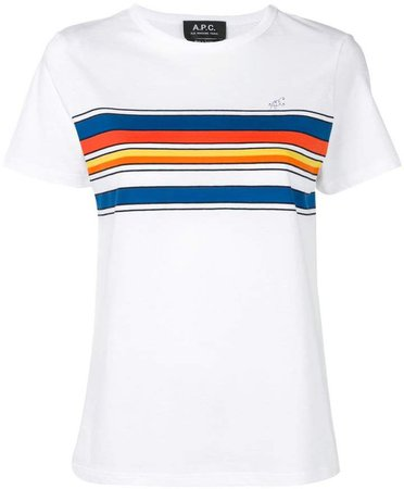 colour block stripe T-shirt